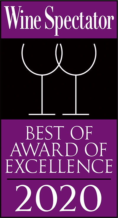 Wine Spectator Best of Award of Excellence 2020